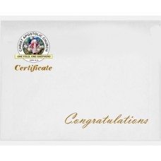 White Certificate Envelope with Logo