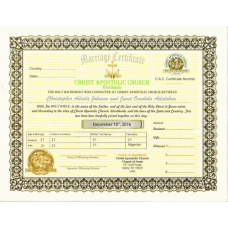 CAC Marriage Certificate Gold