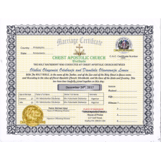 CAC Marriage Certificate Silver